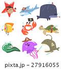 マリン 海 動物のイラスト 27916055