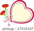 母の日メッセージカード カーネーション ハート 27919107