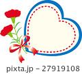 母の日メッセージカード カーネーション ハート 27919108