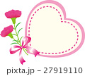 母の日メッセージカード カーネーション ハート 27919110