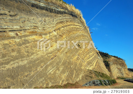 伊豆大島の断層 27919303
