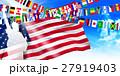 アメリカ 自由の女神  国旗 背景  27919403