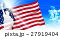 アメリカ 自由の女神  国旗 背景  27919404