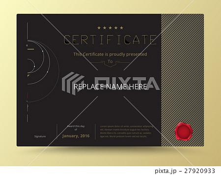 elegant diploma certificate template design のイラスト素材 27920933