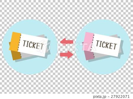 イラスト素材 チケット交換 27922071