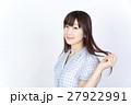 若い女性 美髪 ポートレート 27922991
