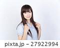 若い女性 美髪 ポートレート 27922994