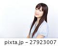 若い女性 美髪 ポートレート 27923007