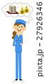 女性 作業着 作業員のイラスト 27926346