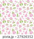 ひなまつりのシームレスパターン背景素材 27926352