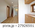 新築住宅の玄関からの風景 27926501
