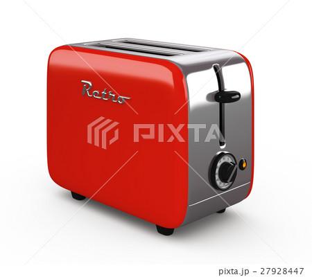 Vintage toaster isolated on white 3D illustration 27928447