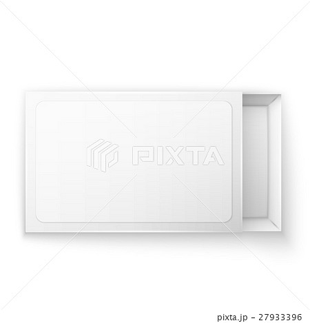 Blank empty white paper packagingのイラスト素材 [27933396] - PIXTA