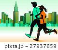 ジョギング ランニング カップルのイラスト 27937659