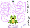 Card with maze game, help the frog catch the fly 27938316
