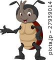 Cartoon rhinoceros beetle waving hand 27939014