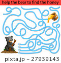 Help the honey bear to find honey 27939143