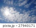 冬空と飛行機雲 27940171