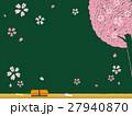 黒板 桜 ベクターのイラスト 27940870