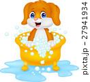 わんこ 犬 お風呂のイラスト 27941934