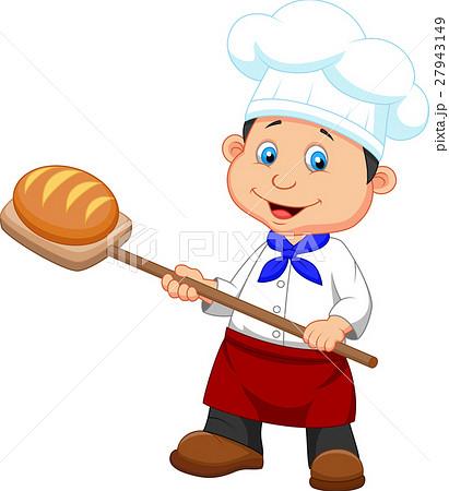 illustration of a baker with bread 27943149 pixta. Black Bedroom Furniture Sets. Home Design Ideas