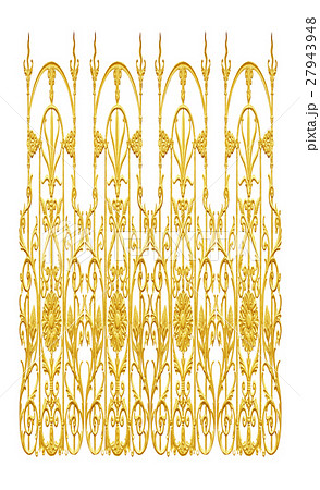 Ornament elements, vintage gold floral designsの写真素材 [27943948] - PIXTA