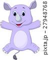 Happy rhino cartoon 27948768