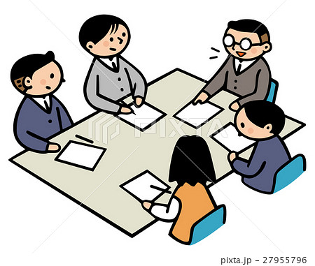 ビジネスシーン 会議風景のイラスト素材 27955796 Pixta