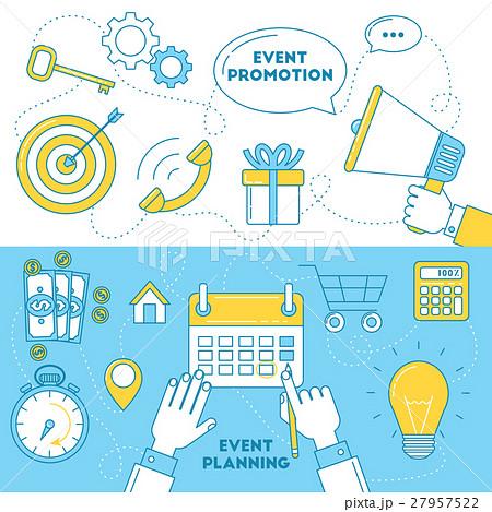 Event planning banners.のイラスト素材 [27957522] - PIXTA