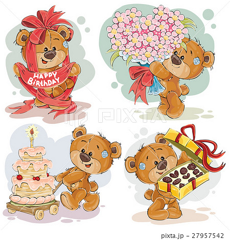 clip art illustrations of teddy bear wishes you aのイラスト素材