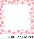 桜 春 フレームのイラスト 27958154
