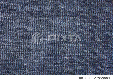 Close up blue jeans fabric background or textureの写真素材 [27959064] - PIXTA