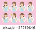 女性 表情 スマホのイラスト 27969846