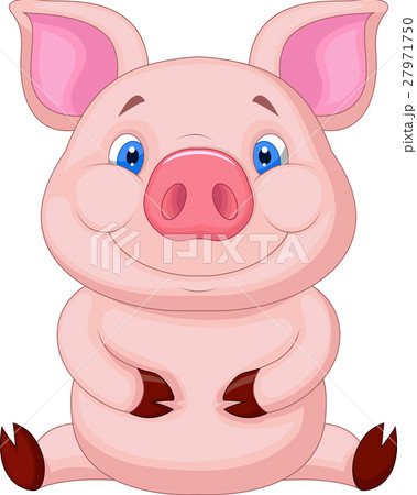 Cute babby pig sitting 27971750