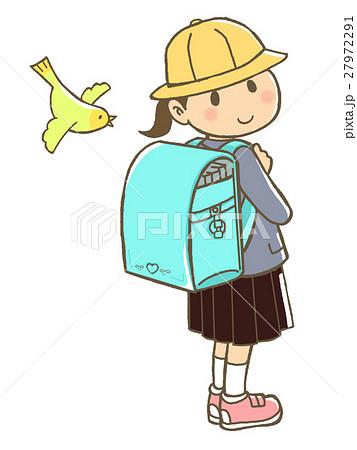 ランドセルを背負った小学生(女児) 27972291