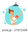 女性 シャワー 浴びるのイラスト 27972496