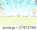 バルーン フラッグ テーマパークのイラスト 27972760