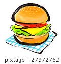 筆描き ハンバーガー 27972762