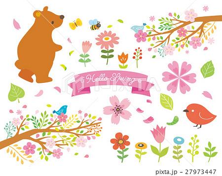 春のイラスト Hello Springのイラスト素材 27973447 Pixta