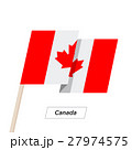 Canada Ribbon Waving Flag Isolated on White 27974575