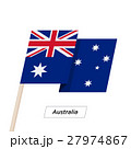 Australia Ribbon Waving Flag Isolated on White 27974867