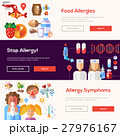 Allergy and allergens flat design website banners 27976167