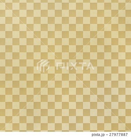 アナログ風 和風の市松模様背景イラスト素材 正方形 27977887