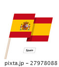 Spain Ribbon Waving Flag Isolated on White. Vector 27978088