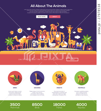 all about animals website header banner withのイラスト素材 27978538