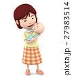 ママ 赤ちゃん 抱っこのイラスト 27983514