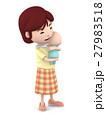 ママ 赤ちゃん 抱っこのイラスト 27983518