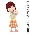 赤ちゃんを抱っこするママ7 27983521