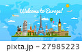 Welcome to Europe poster with famous attractions 27985223