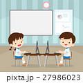 子 子供 パソコンのイラスト 27986023